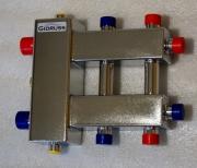 Коллекторы отопления компакт с гидрострелкой из нержавейки