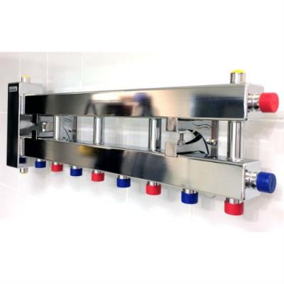 Коллектор отопления с гидрострелкой Gidruss компактBMKSS-60-5D из нержавеющей стали