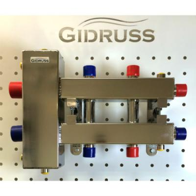 Коллектор отопления с гидрострелкой GidrussBMSS-100-3DU из нержавеющей стали