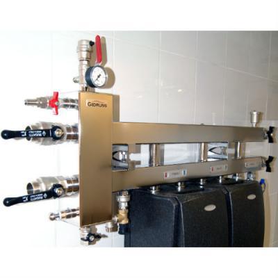 Коллектор отопления с гидрострелкой GidrussBMSS-100-4D из нержавеющей стали