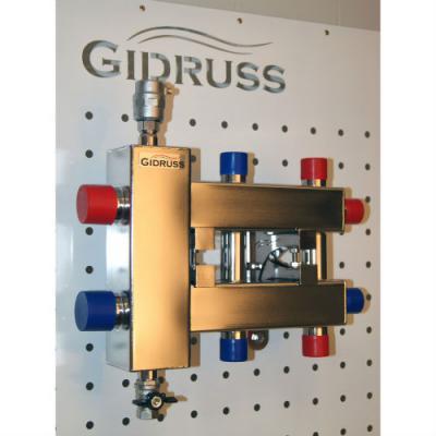 Коллектор отопления с гидрострелкой Gidruss BMSS-60-3DU из нержавеющей стали
