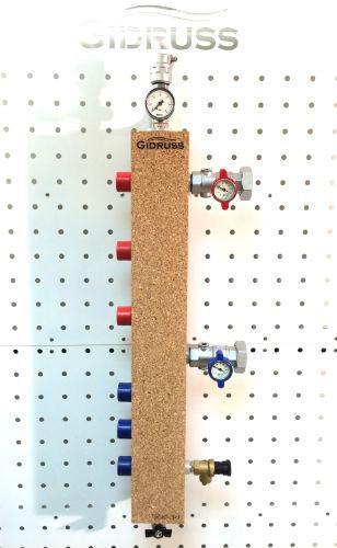 Гидрострелка (Термо-гидравлический разделитель) Gidruss TGR-60-25х3 (до 60 кВт, 3 контура G1'')