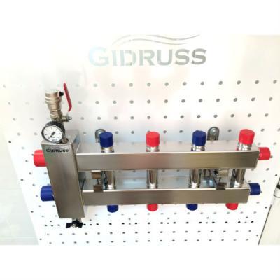 Коллектор отопления с гидрострелкой GidrussBMSS-60-5DU из нержавеющей стали