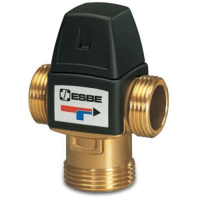 """Клапан термостатический смесительный трехходовой ESBE VTA 322, DN25, н.р 1"""" 20-43С, для теплого пола"""