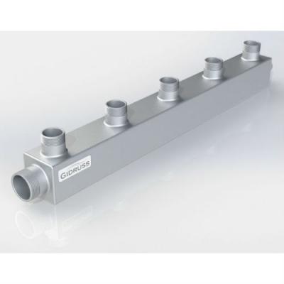 Распределительный коллектор на 5 контуров Gidruss DM-32-25x5 из конструкционной стали