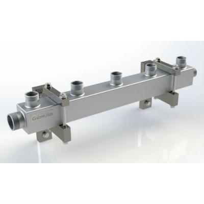 Распределительный коллектор на 5 контуров Gidruss DM-20-15x5 из конструкционной стали