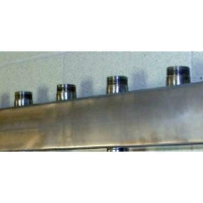 Распределительный коллектор на 4 контура Gidruss DMSS-20-15x4 из нержавеющей стали