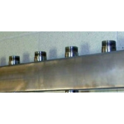 Распределительный коллектор на 5 контуров Gidruss DMSS-20-15x5 из нержавеющей стали