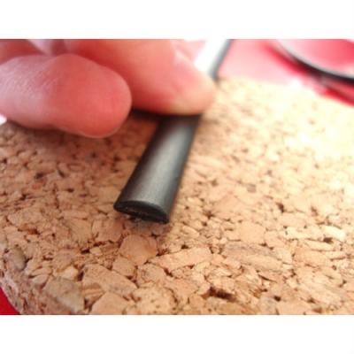 """Искусственный ротанг """"Полумесяц цвет черный 7 мм, текстура гладкая"""" для плетения мебели"""