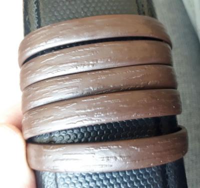 """Искусственный ротанг """"Полоса цвет шоколад 6-12 мм, тиснение кора дерева"""" для плетения мебели"""