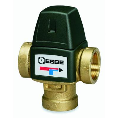"""Клапан термостатический смесительный трехходовой ESBE VTA 321, DN20, вн.р 3/4"""" 20-43 C, для теплого пола"""