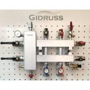 Коллектор отопления с гидрострелкой Gidruss BM-100-3DU из конструкционной стали