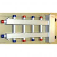 Коллектор отопления с гидрострелкой Gidruss BM-250-5DU (250 кВт, 5 контуров, вход G 2'' НР, выход 1'' НР Межосевое расстояние 125 мм