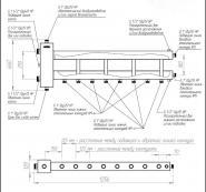"""Коллектор отопления с гидрострелкой Gidruss BM-150-5D (150 кВт, 5 контуров, вход G 1 1/2"""" НР, выход 1"""" НР Межосевое расстояние 125 мм)"""