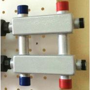 Модульный коллектор отопления на 3 контура Gidruss MK-60-3DU для гидрострелки до 60, до 100 кВт из конструкционной стали