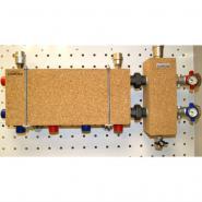 Модульный коллектор отопления на 3 контура Gidruss MKSS-40-3D для гидрострелки до 40 кВт из нержавеющей стали