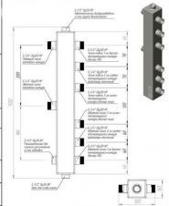 Гидрострелка (Термо-гидравлический разделитель) Gidruss TGR-40-20х3 (до 40 кВт, 3 контура G ?'')