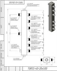 Термогидравлический разделитель на 3 контура Gidruss ТGRSS-40-20х3 Gidruss из нержавеющей стали