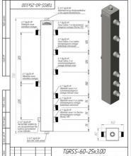 Термогидравлический разделитель на 3 контура Gidruss ТGRSS-60-25х3 Gidruss из нержавеющей стали