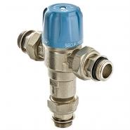 Клапан смесительный термостатический трехходовой Valtec Thermomix регулируемый