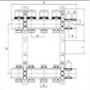 """Коллектор теплого пола Valtec 1"""" 7x3/4"""" из латуни с балансировочными и термостатическими клапанами"""