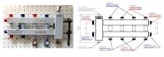 Коллектор отопления с гидрострелкой Gidruss BM-60-5DU (60 кВт, 5 контуров вход G 1 1/4'' НР, выход 1'' НР Межосевое расстояние 125 мм)