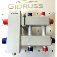 Коллектор отопления с гидрострелкой Gidruss компакт BMK-60-3DU из конструкционной стали