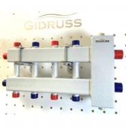 Коллектор отопления с гидрострелкой Gidruss компакт BMK-60-5DU из конструкционной стали