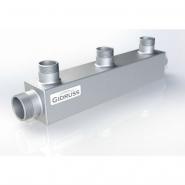 Распределительный коллектор на 3 контура Gidruss DM-20-15x3 из конструкционной стали