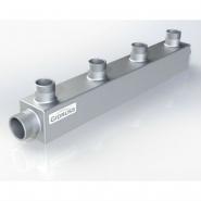 Распределительный коллектор на 4 контура Gidruss DM-25-20x4 из конструкционной стали