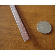"""Искусственный ротанг """"Полумесяц цвет коричневый, текстура доска 7 мм"""" для плетения мебели"""