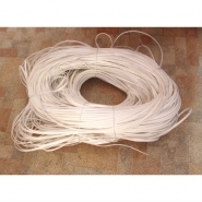 """Искусственный ротанг """"Полумесяц цвет белый 7 мм, текстура гладкая"""" для плетения мебели"""