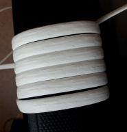 """Искусственный ротанг """"Полумесяц цвет белый 6-12 мм, тиснение кора дерева"""" для плетения мебели"""